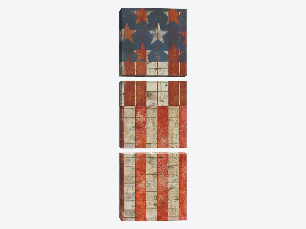 American Quilt K by Vision Studio 3-piece Canvas Artwork