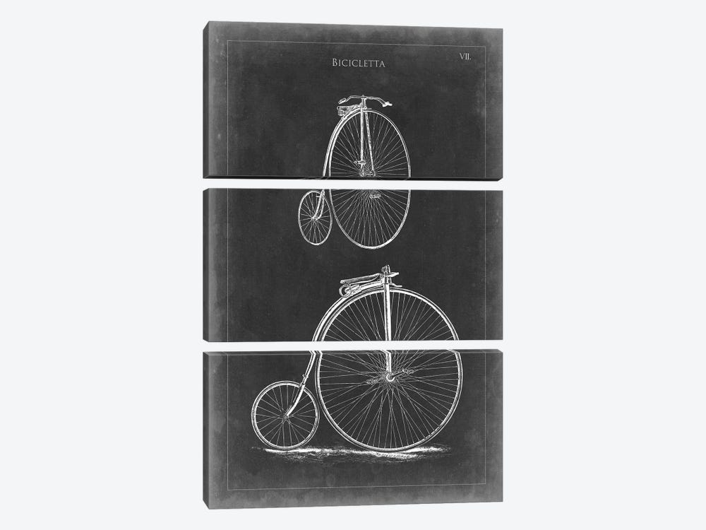 Vintage Bicycles II by Vision Studio 3-piece Canvas Artwork