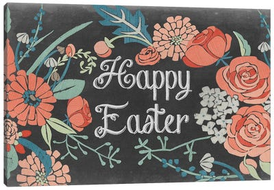 Chalkboard Easter Collection A Canvas Art Print