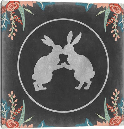Chalkboard Easter Collection C Canvas Art Print