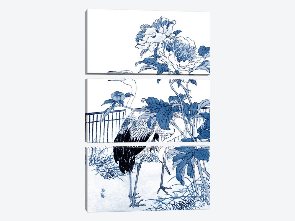 Blue & White Asian Garden I by Vision Studio 3-piece Art Print