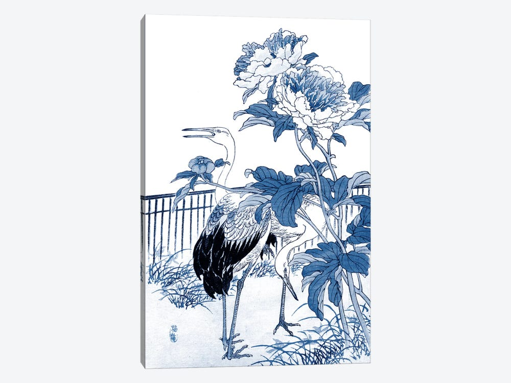 Blue & White Asian Garden I by Vision Studio 1-piece Art Print