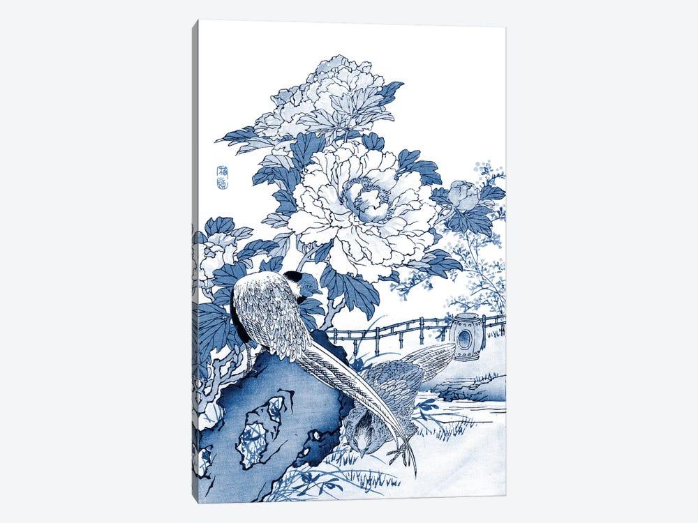 Blue & White Asian Garden II by Vision Studio 1-piece Canvas Wall Art