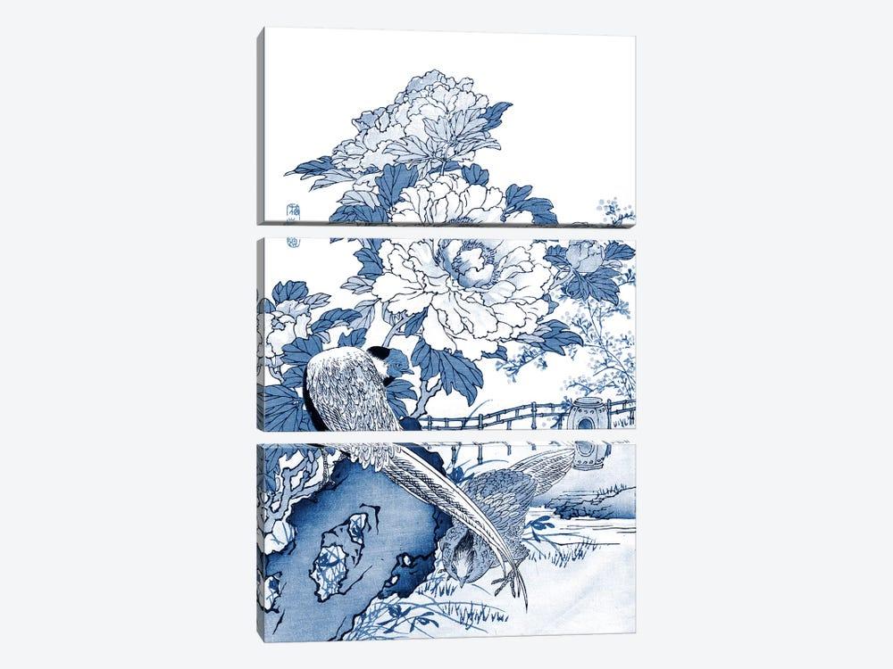 Blue & White Asian Garden II by Vision Studio 3-piece Canvas Wall Art
