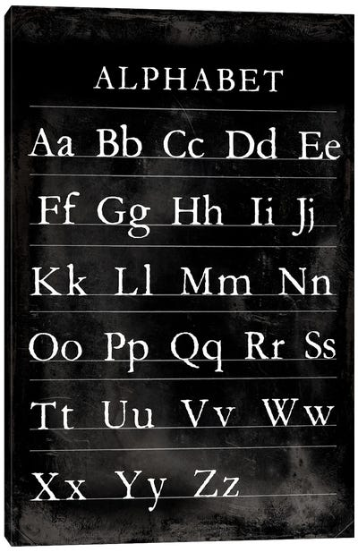 Alphabet Chart Canvas Art Print