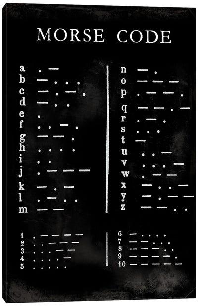 Morse Code Chart Canvas Art Print