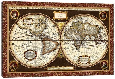 Decorative World Map by Vision Studio Canvas Art Print
