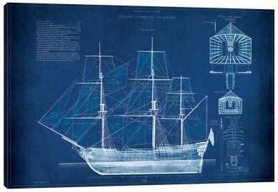 Antique Ship Blueprint IV Canvas Art Print