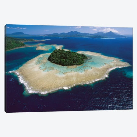 Coral Reefs And Islands, Kimbe Bay, West New Britain Island, Papua New Guinea Canvas Print #VSR1} by Ingrid Visser Canvas Artwork