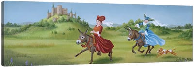 Galloping Canvas Art Print