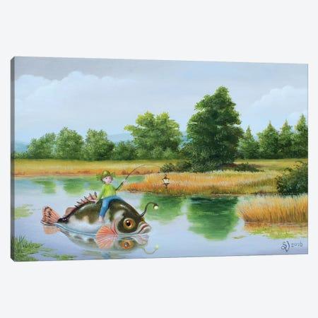 Lanternfish Canvas Print #VSS18} by Suzan Visser Canvas Artwork