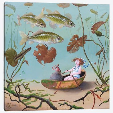 Three Giebels Canvas Print #VSS27} by Suzan Visser Canvas Artwork
