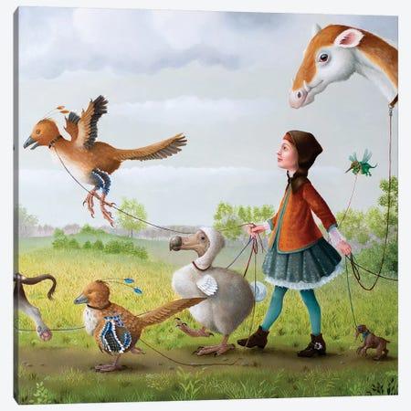 Animal Walk Service Canvas Print #VSS5} by Suzan Visser Canvas Artwork