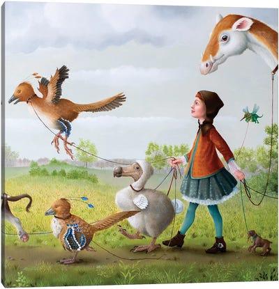 Animal Walk Service Canvas Art Print