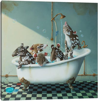 Bath Time Canvas Art Print
