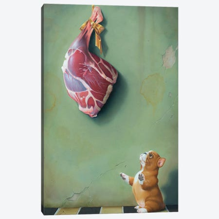Bite Meat Canvas Print #VSS7} by Suzan Visser Canvas Art