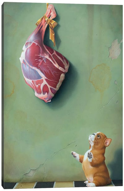 Bite Meat Canvas Art Print