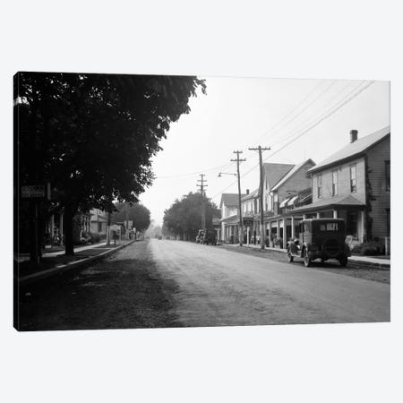 1930s Jennerstown Pennsylvania Looking Down The Main Street Of This Small Town Canvas Print #VTG102} by Vintage Images Art Print