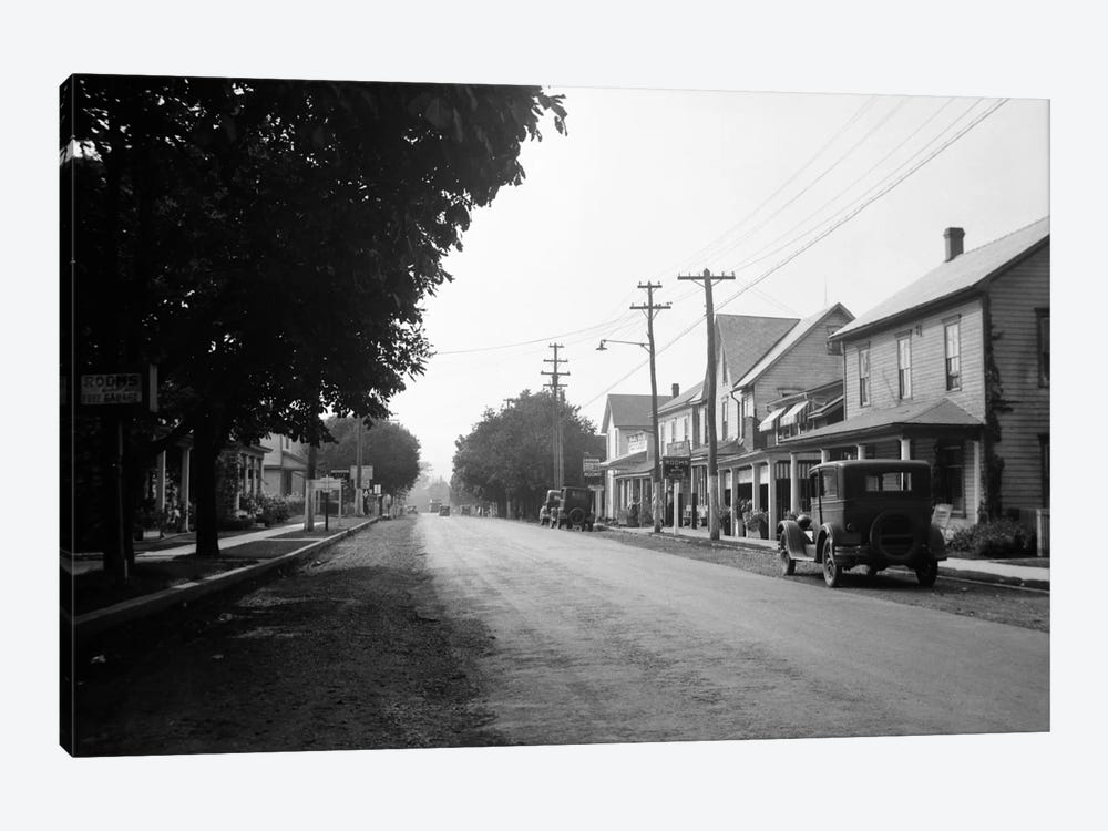 1930s Jennerstown Pennsylvania Looking Down The Main Street Of This Small Town by Vintage Images 1-piece Art Print