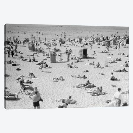 1930s Lake Shore Beach Berlin Germany Canvas Print #VTG103} by Vintage Images Canvas Art Print