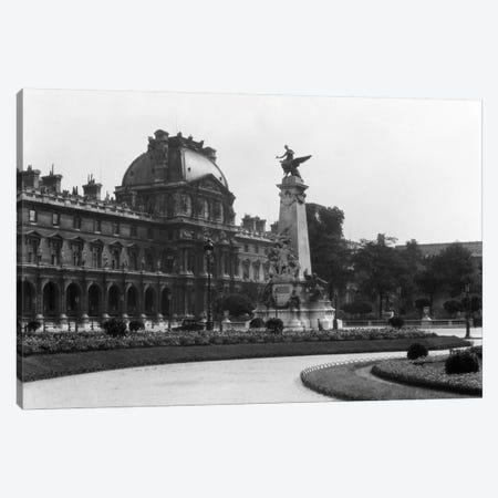 1930s Le Louvre Museum And Gardens Paris France Canvas Print #VTG104} by Vintage Images Canvas Art