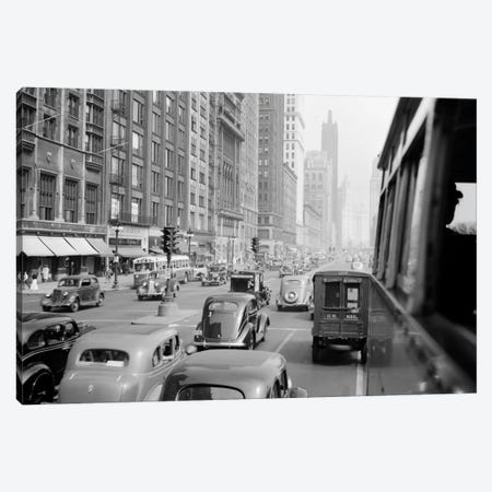 1930s Morning Traffic On Michigan Avenue Chicago Illinois USA Canvas Print #VTG108} by Vintage Images Canvas Print