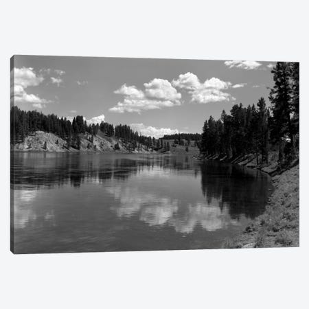 1930s Mountain Lake Yellowstone National Park Wyoming Canvas Print #VTG109} by Vintage Images Art Print