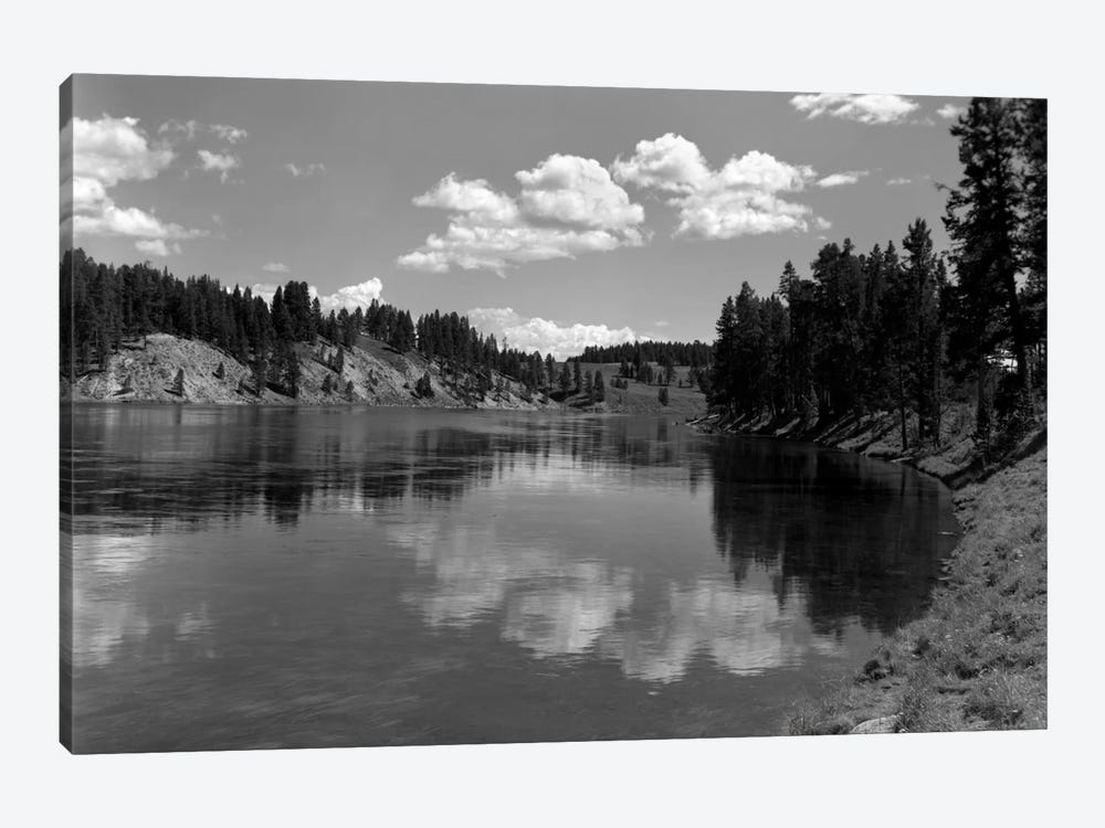 1930s Mountain Lake Yellowstone National Park Wyoming by Vintage Images 1-piece Canvas Artwork