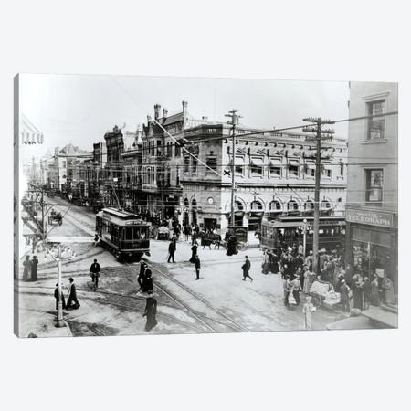 1900s Intersection Of Fair Oaks And Colorado Streets Cable Cars Horse And Buggies Pasadena California USA Canvas Print #VTG10} by Vintage Images Canvas Art Print