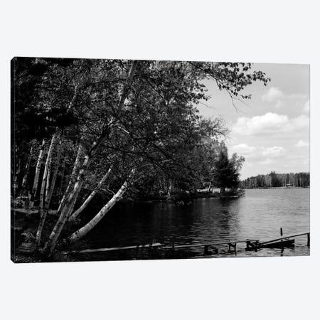 1930s Narrow Wooden Dock Jutting Into Serene Lake Canvas Print #VTG112} by Vintage Images Canvas Artwork