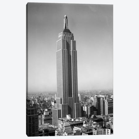 1930s New York City Empire State Building Full Length Without Antennae Canvas Print #VTG115} by Vintage Images Canvas Art Print