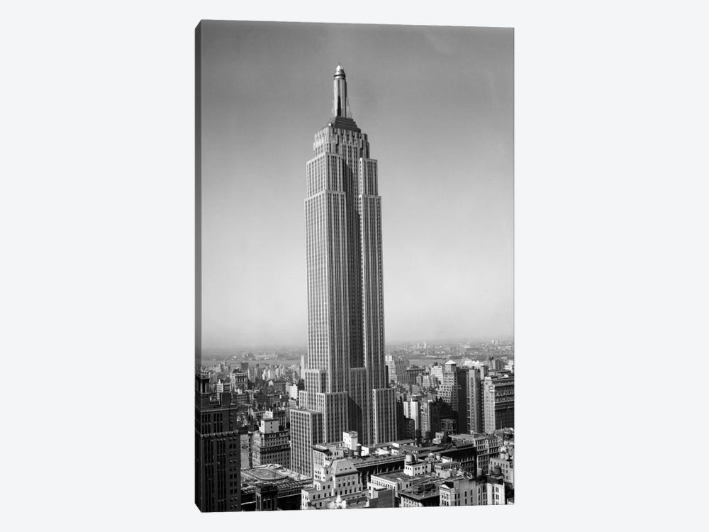 1930s New York City Empire State Building Full Length Without Antennae by Vintage Images 1-piece Art Print