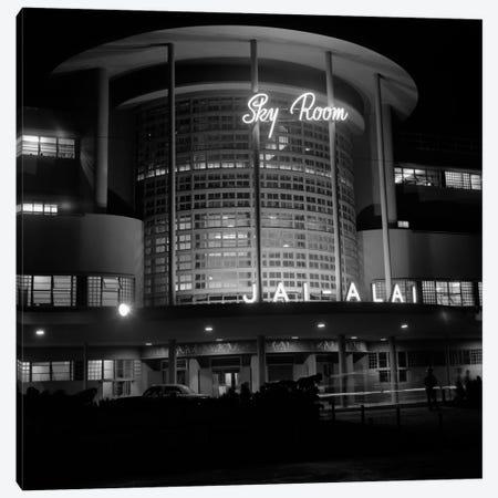 1930s Night Shot Of Jai Alai Nightclub Club The Sky Room Art Deco Building Manila Philippine Islands Philippines Canvas Print #VTG118} by Vintage Images Canvas Artwork