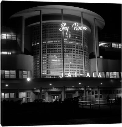 1930s Night Shot Of Jai Alai Nightclub Club The Sky Room Art Deco Building Manila Philippine Islands Philippines Canvas Art Print