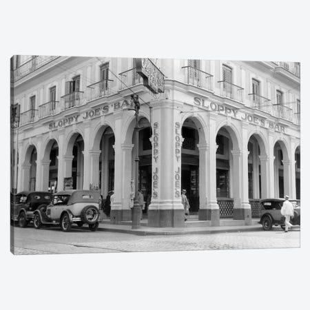 1930s Outside Facade Of Sloppy Joe's Bar Said To Be Origin Of Sloppy Joe Sandwich Old Havana Cuba Canvas Print #VTG120} by Vintage Images Canvas Art Print