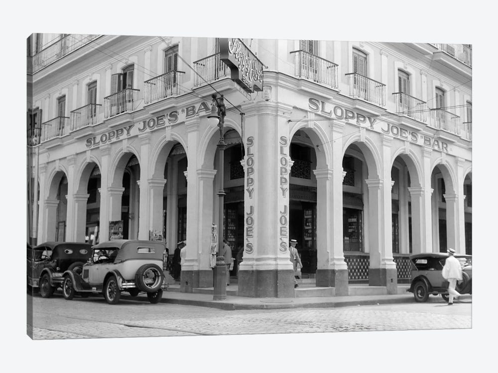 1930s Outside Facade Of Sloppy Joe's Bar Said To Be Origin Of Sloppy Joe Sandwich Old Havana Cuba by Vintage Images 1-piece Art Print