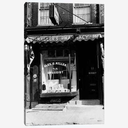 1930s Pharmacy Storefront Canvas Print #VTG124} by Vintage Images Canvas Art