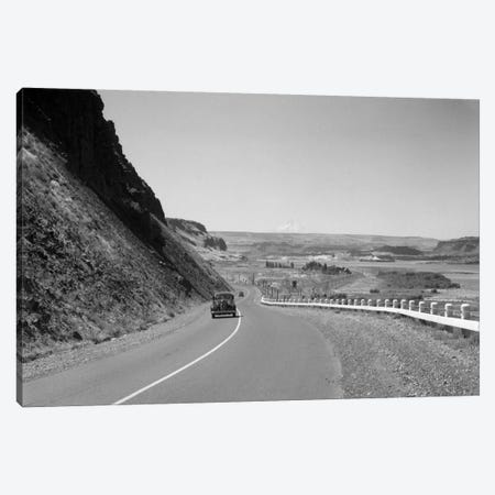 1930s Retro US 30 Walla Walla Washington Car Mountain Drive Canvas Print #VTG125} by Vintage Images Canvas Wall Art