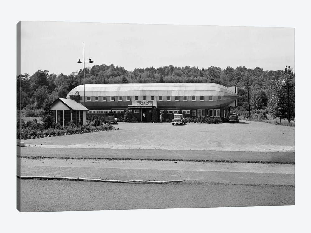 1930s Roadside Zeppelin Shaped Diner by Vintage Images 1-piece Art Print
