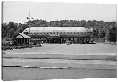 1930s Roadside Zeppelin Shaped Diner Canvas Art Print
