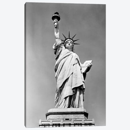 1930s Statue Of Liberty NY Harbor Ellis Island National Monument 1886 Canvas Print #VTG130} by Vintage Images Canvas Art