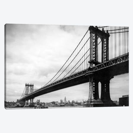 1930s View Of Manhattan Bridge Across East River From Brooklyn New York City NY USA Canvas Print #VTG135} by Vintage Images Canvas Art Print