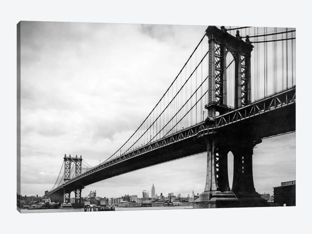 1930s View Of Manhattan Bridge, New York City, NY, USA by Vintage Images 1-piece Art Print
