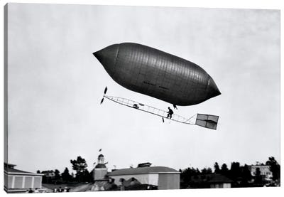1900s-1910s Lincoln Beachey Airship Appearance Is Cross Between Hot Air Balloon And Blimp Canvas Art Print