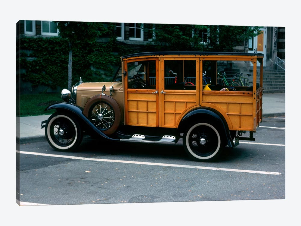 1930s Wood Body Station Wagon Antique Automobile by Vintage Images 1-piece Canvas Art Print