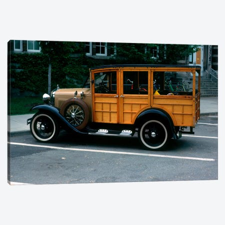 1930s Wood Body Station Wagon Antique Automobile 3-Piece Canvas #VTG140} by Vintage Images Canvas Art Print