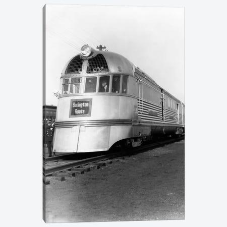 1930s Zephyr Train Engine Cars In Perspective Burlington Route Railroad Canvas Print #VTG141} by Vintage Images Art Print