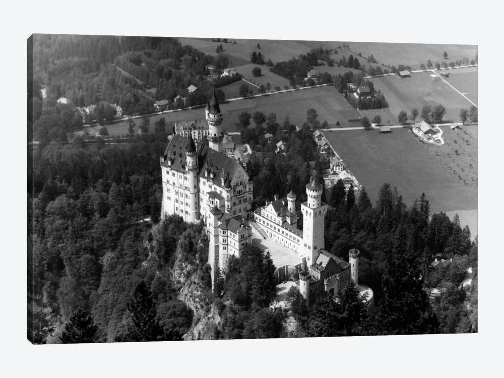 1930s-1940s Aerial Of Neuschwanstein Castle by Vintage Images 1-piece Canvas Print