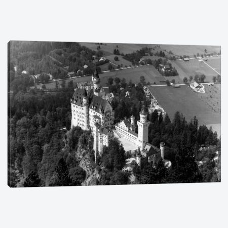 1930s-1940s Aerial Of Neuschwanstein Castle Canvas Print #VTG144} by Vintage Images Canvas Art