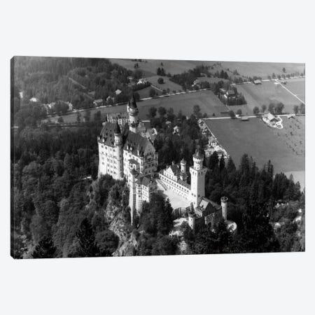 1930s-1940s Aerial Of Neuschwanstein Castle Canvas Print #VTG144} by Vintage Images Canvas Art